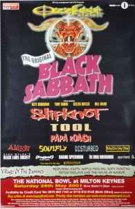 Original Black Sabbath Tool Subway Tour Poster UK 01