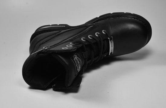 HARLEY DAVIDSON Branden 7 Motorcycle Riding Boots Black Leather Men