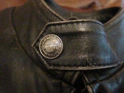 Vtg Harley Davidson VICTORY Mens Distressed Leather Motorcycle Jacket