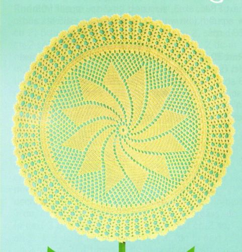 Round Ripple Baby Afghans Circular Crochet Patterns New