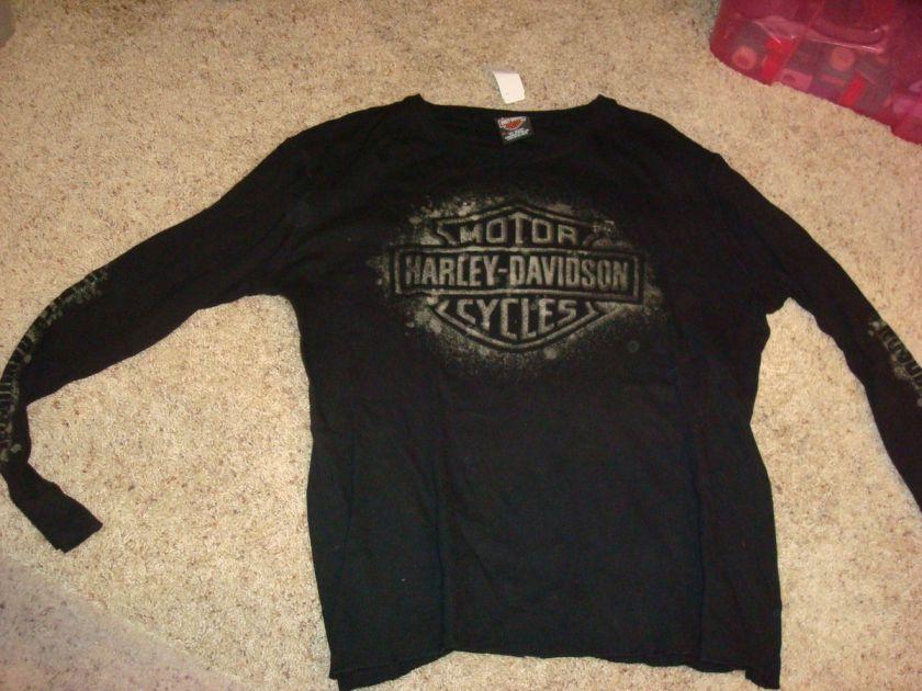 Harley Davidson HD Mens T Shirt Shirt XL XLarge Black Motorcycle Logo