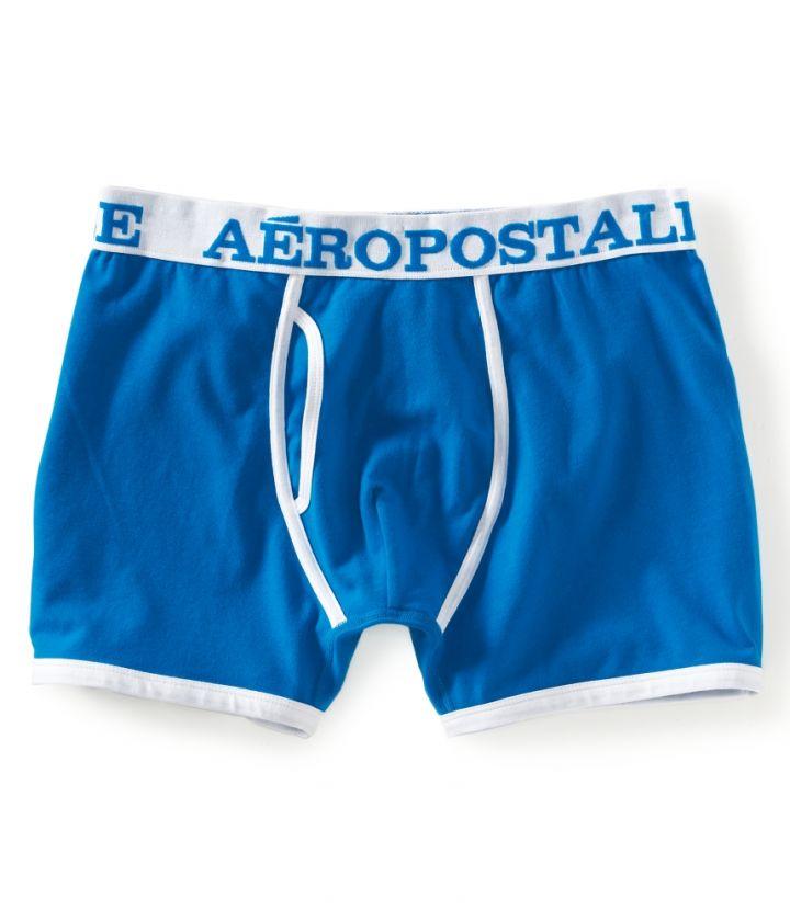 aeropostale mens solid knit boxer shorts