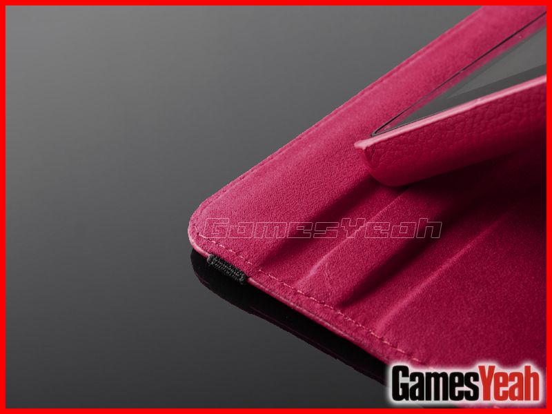 Red For Kindle Fire PU leather Case Cover/Car Charger/USB Cable/Stylus