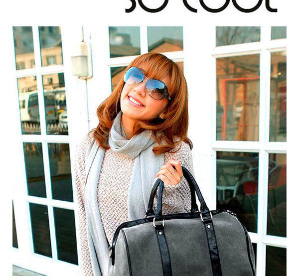 Simitter new fashion women men casual simple big handbag shoulder bag